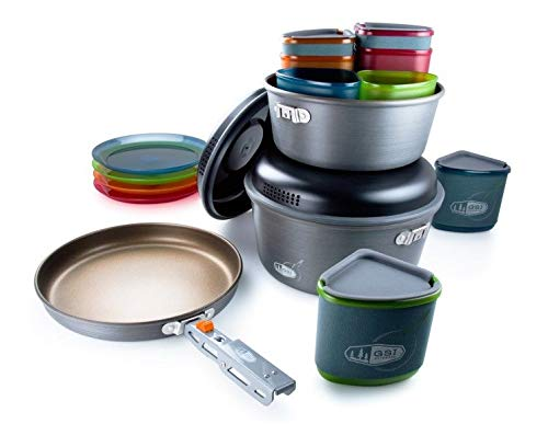 1 Person Cookset - GSI Outdoors - Pinnacle Camper, 4 person Camping Cook Set