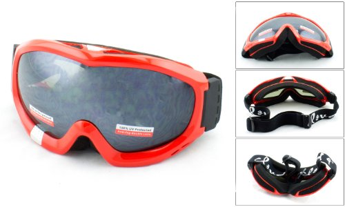 Cloud 9 Men's Snow Goggles in Red/Mirrored - Man In Goggles