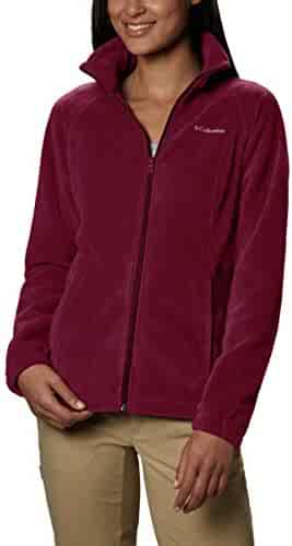 Columbia Women's Benton Springs Full Zip Jacket, Soft Fleece with Classic Fit, Rich Wine, Petite X-Large