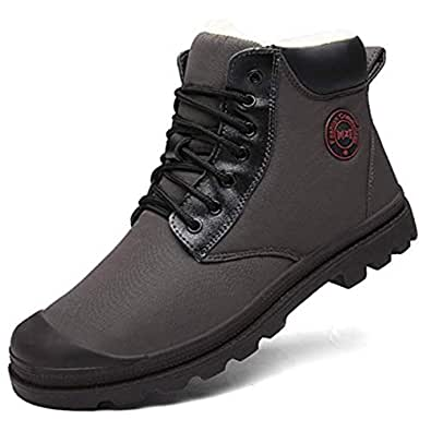 Amazon.com | Moodeng Men's Snow Boots Fur Lined Ankle