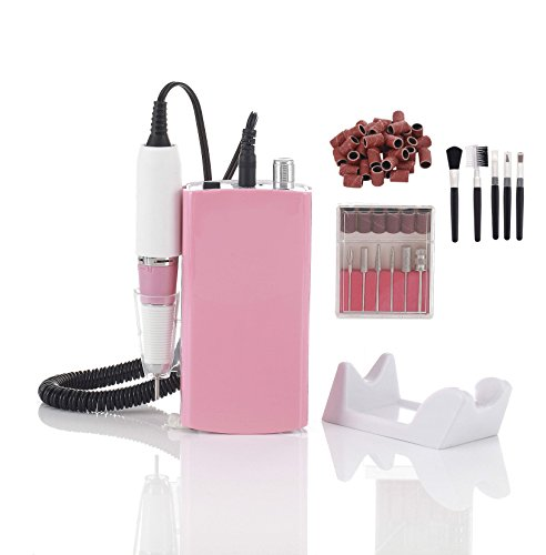 Miss Sweet Nail Drill Machine Electric Nail File Acrylic Gel Nail Grinder Tool RPM30000 (Y1 Pink)
