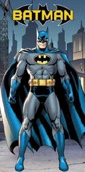 Batman in the City Beach Towel ~ Can Be Used for Bath