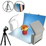 商品撮影セット「フォトラ」 プレミアムセット(背景紙5種類+三脚セット) PH-007