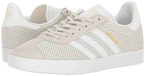 Adidas Originals Women's Gazelle W Fashion Sneaker, Talc/White/Talc, 9 M US