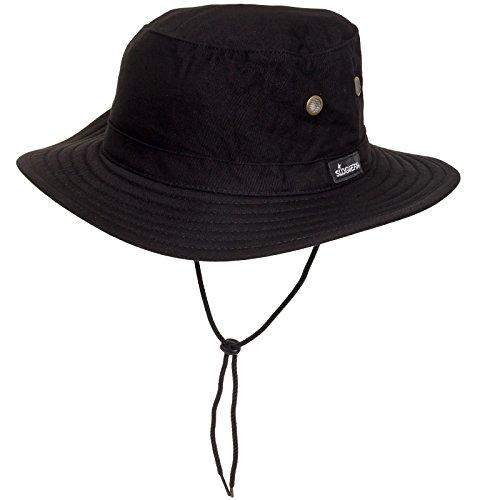Sloggers Mens Classic Cotton UPF 50 + Bucket Hat Cap (Black M/l)