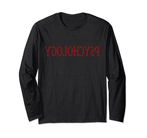 Unisex Reverse Psychology Fun T-shirt Long Sleeve Psychologist Gift XL: Black