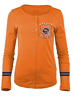 NFL Women's Long Sleeve Scoop Neck Henley Shirt