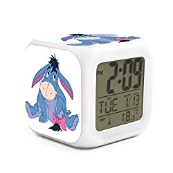 xinjinmaoyi Cute Non Ticking Easy to Read Desktop Alarm Clock for Home Helpful for Children