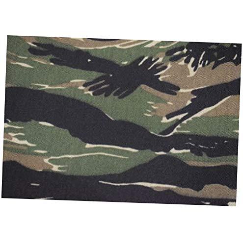 Fabric Woodlands Vintage Tiger Stripe Twill 7 oz Cotton Blend Fabric 64