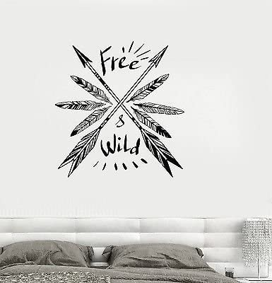 V Studios Vinyl Decal Feathers Arrow Ethnic Decor Quote Art Room Wall Stickers Vs498 Home Kitchen