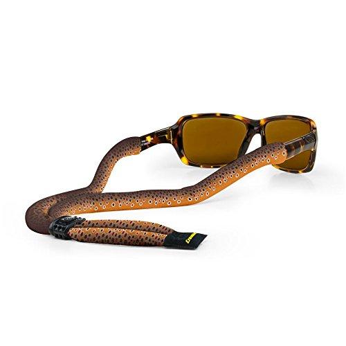 Croakies (CROCY Suiters Sport Eyewear Retainer Fish Print Brown Trout, 28
