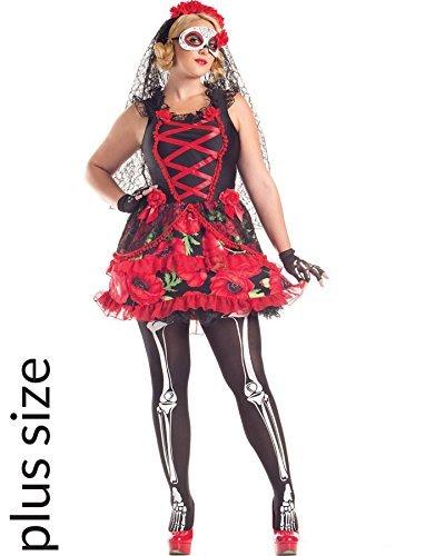 (Day of the Dead Senorita Costume - Plus Size 3X - Dress Size)