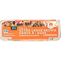 365 Everyday Value, Cage-Free Non-GMO Extra Large Brown Grade A Eggs, 12 ct