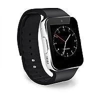 CHEREEKI Bluetooth Smart Watch avec Caméra Ecran Tactile Support SIM / TF Card Montres Connectée Smartwatch avec Podomètre Compatible Smartphones Android