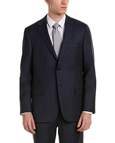 Hickey Freeman Mens 2Pc Wool Suit With Flat Front Pant, 44R, - Suits Freeman Hickey Mens