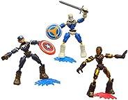 Kit Marvel Avengers Bend and Flex - Homem de Ferro, Capitão América e Treinador - E9198 - Hasbro