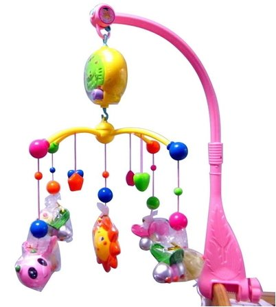 thitiwat Baby Boy & Girl Bedding Crib Musical Mobile with Hanging Rotating Soft Colorful Plush Dolls Horse Adorable Characters Electric Music Box 12 melodies by thitiwat