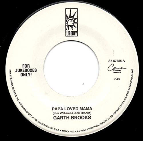 Rpm 45 Way Records (Garth Brooks 45 RPM Papa Loved Mama / New Way to Fly)