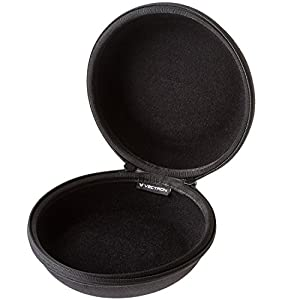 VECTRON X6 Headphone Case - Full Size Hardshell Earphone Headset Ultimate Protection For Beats Pro Solo2 Bose 35 Quiet Comfort Audio Technica M50x Sony MDR7506 Sennheiser HD 518 Philips + More
