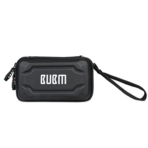 BUBM Eva Electronic Accessories Organizer Case, Travel Gadget Bag with Handle, Perfect for Cables, USB Drives, Batteries, memory cards (Black)