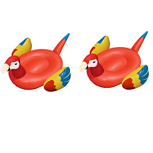 Swimline Swimming Pool Giant Rideable Tropical Parrot Inflatable Toy (2 Pack) -