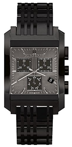 Burberry Men's BU1563 Square Grey Chronograph Dial Black Bracelet Watch by BURBERRY (Image #4)