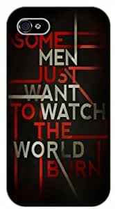 For HTC One M7 Case Cover ome men just want to watch the world burn - black plastic case / Life quotes, inspirational and motivational / Authentic