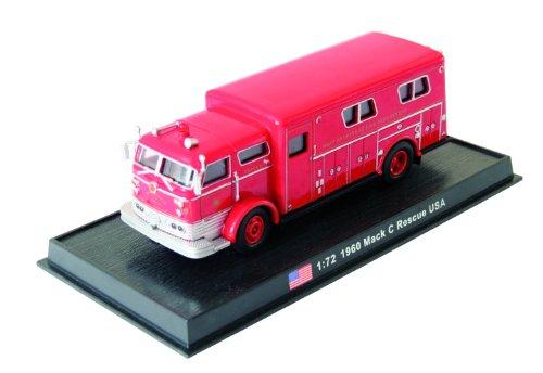 Mack C Rescue - 1960 diecast 1:72 fire truck model (Amercom SF-49)