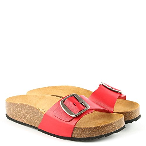 Rouge De Daniel Df Sandale By Saxton Red Mule Cuir Leather En xP140wq