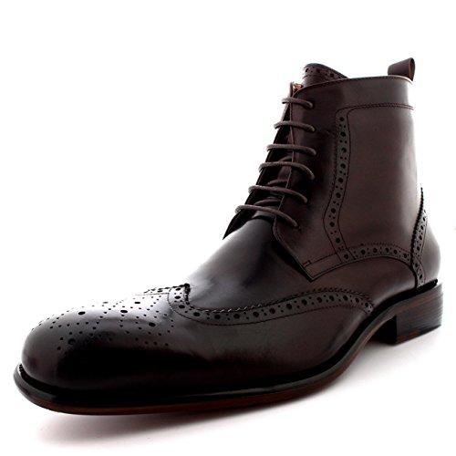 Queensbury Pieno Oxfords Vera Uomo cap Smith Marrone Scarpe Stivali Caviglia Wing Pelle 6ZwRnr6qU