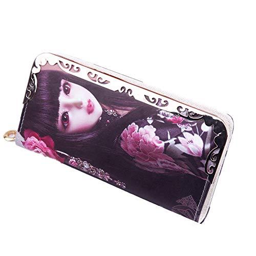 Monedero Larga Bolsa Barbie Rojo Dinero Las Elegante Cero De Chicas Negro Para color Jóvenes Mano dqt5Bx5w