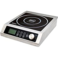 Aervoe Industries 6535 Max Burton Digital ProChef-3000 Induction Cooktop, Stainless-steel body, Larger 9' coil to handle larger cookware, 10 temperature levels (100° - 464°F)