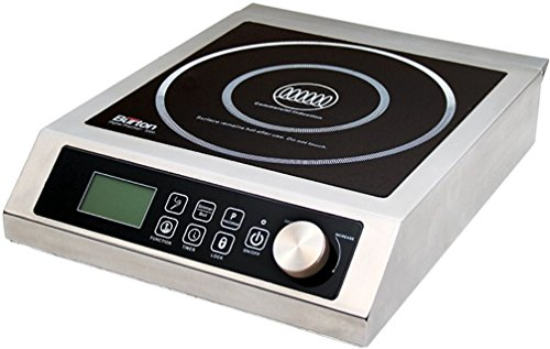 Aervoe Industries 6535 Max Burton Digital ProChef-3000 Induction Cooktop, Stainless-steel body, Larger 9