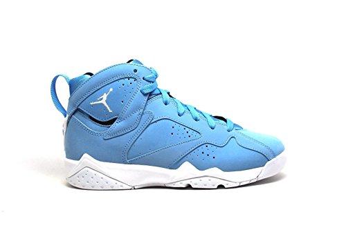 Jordan Kid's Air 7 Retro BG, UNIVERSITY BLUE/WHITE-WHITE, Youth Size 5
