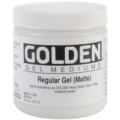 Golden Regular Matte Gel Medium-8 ounce ()