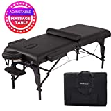 """BestMassage 77"""" Portable 4"""" Padding Folding Massage Table w/Free Carry Case Bed Spa"""