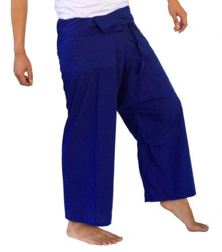 Siam secretos pescador Pantalones Unisex luz peso Wrap Yoga Pants talla única Azul