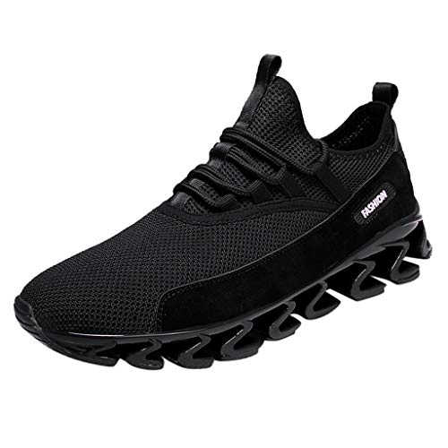 OrchidAmor Men's Casual Outdoor Breathable Running Sport Shoe Sneakers Mountaineering Shoes Black