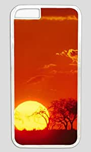 The Beauty of The Sunset DIY Hard Shell Transparent Special For iphone 6 Plus Case