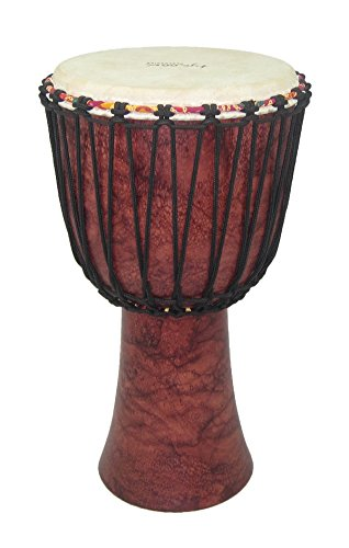 tycoon-percussion-taj-12-rma-12-inch-rope-tuned-djembe-red-marble-finish