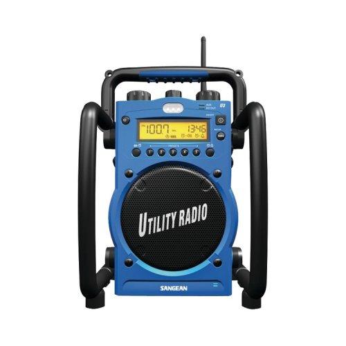 Sangean America Digital AM/FM Water-Resistant Utility Radio with Alarm u3r