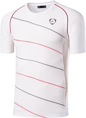 Sports Asciugatura Jeansian T Uomo Lsl020 white Tee Rapida Sportivo shirts Fashion Casuale Lsl116 Camicie Slim n1YFSYwq