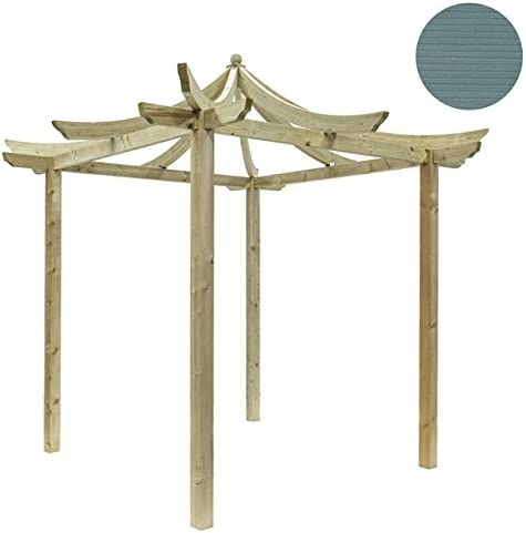 Gorgeous Oriental estilo de madera jardín pérgola disponible en 5 ...