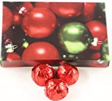 Scott's Cakes Dark Chocolate Blueberry Fruit Filling Candies with Red Foils in a 1 Pound Ornament Box