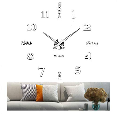 Vangold Large DIY Wall Clock, 2-Year Warranty Modern 3D Wall