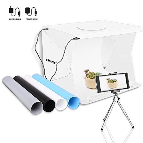 Emart 14″ x 16″ Photography Table Top Light Box 52 LED Portable Photo Studio Shooting Tent