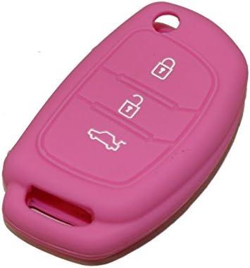 Carcasa llave de silicona para coches ROSA