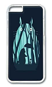Apple Iphone 6 Case,WENJORS Adorable My Neighbor Totoro Hard Case Protective Shell Cell Phone Cover For Apple Iphone 6 (4.7 Inch) - PC Transparent