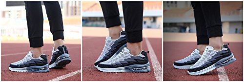 Chaussure Sports Baskets la Gym Baskets MIMIYAYA Homme Baskets 44EU Cheville Femme Fitness de Sneakers 34 Course Gris de à Sport Air Running wvnISqnZA