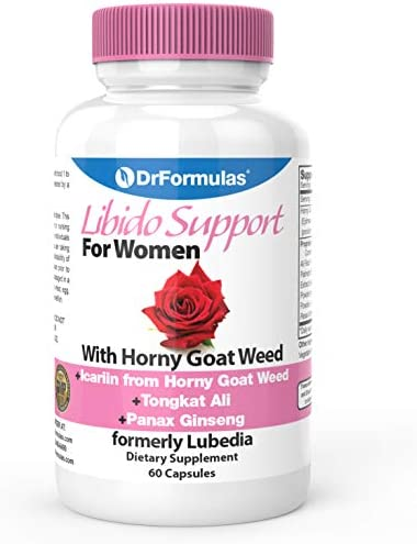 DrFormulas Libido Support for Women with Horny Goat Weed Extract with Maca, Epimedium and Icariin, Formerly Lubedia , 60 Count